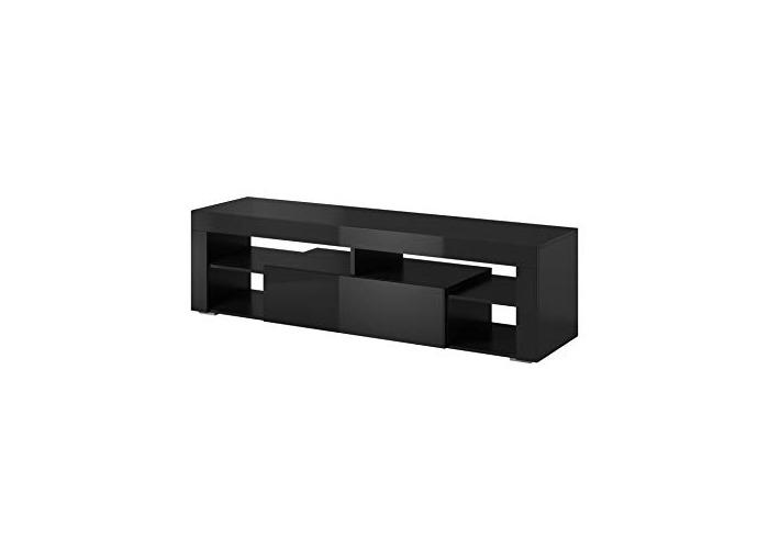 """e-Com - TV Unit Cabinet Stand Sideboard""""TITAN"""" - 140 cm - White - 1"""