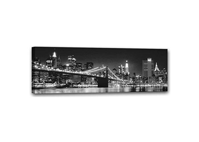 E-com Prints on Canvas (Bridge Black & White, 45x140) - 1