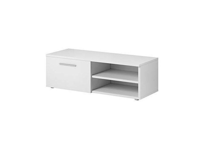 E-com TV Unit Cabinet Stand Vegas 120 cm Matte White - 1
