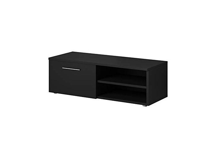 E-com TV Unit Cabinet Stand Vegas Matte Black (120 cm) - 1