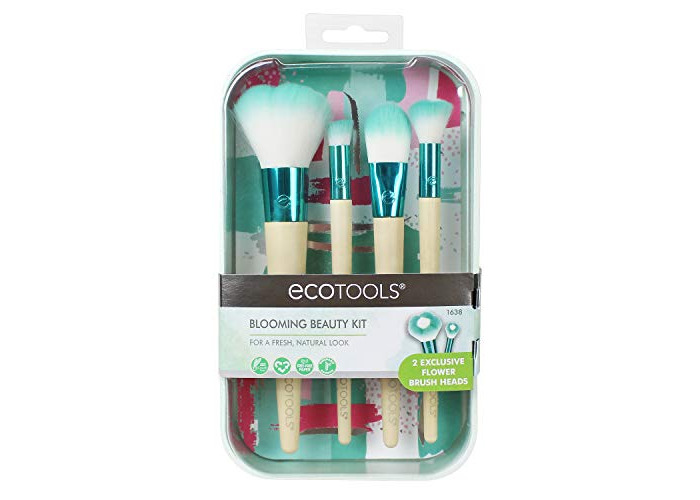 EcoTools Blooming Beauty Makeup Brush Set, Flower Design - 1