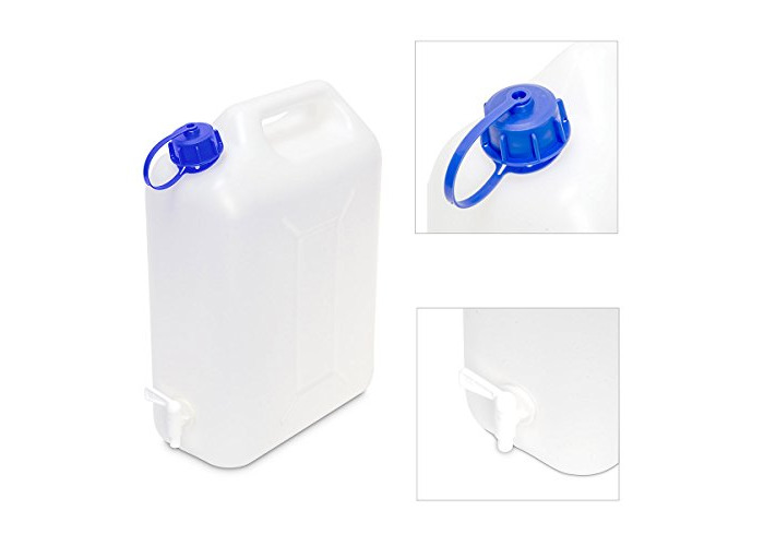 Edco 20L Watercan with Tap - White - 1
