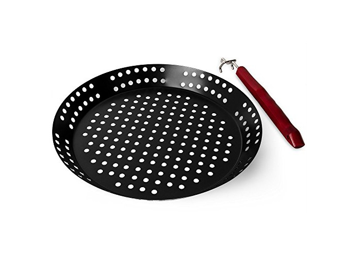 Edco 871125275596 32 cm 1 mm Carbon Barbecue Skillet - 2