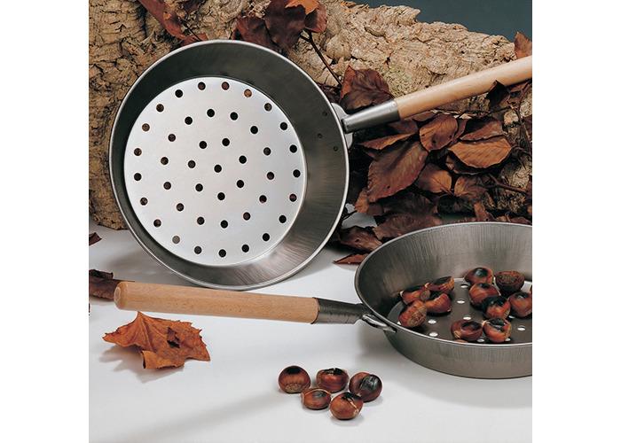 Eddingtons Chestnut Roaster with Wooden Handle, Steel - 1
