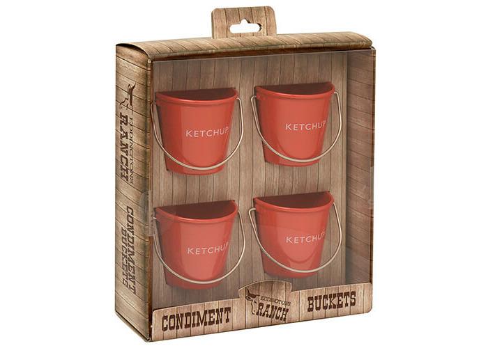 Eddingtons Ranch Ketchup Buckets Set Of 4 - 2
