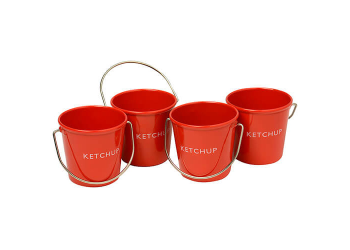 Eddingtons Ranch Ketchup Buckets Set Of 4 - 1