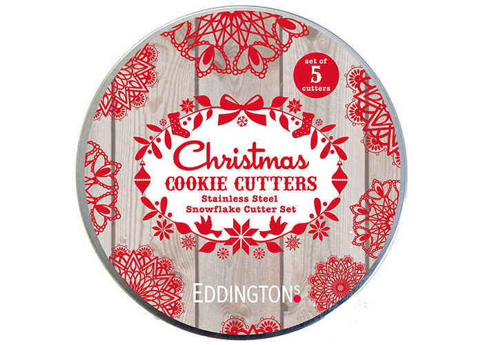 Eddingtons Snowflake Cutters in Tin - 1