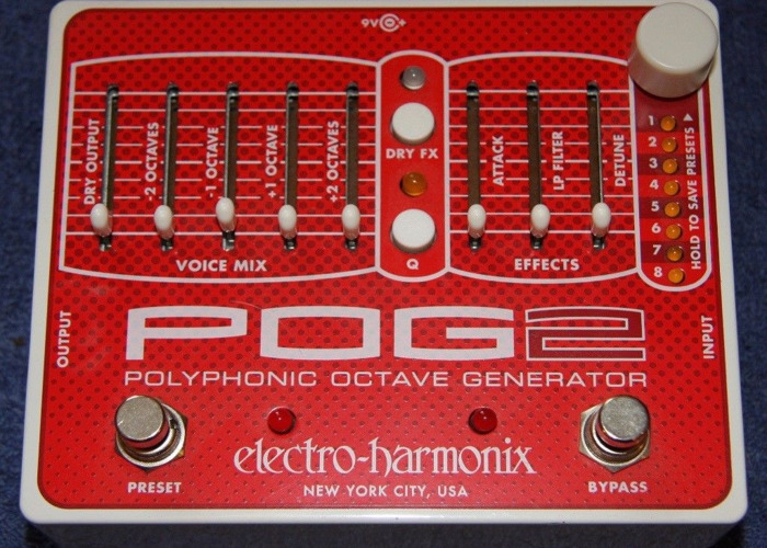 EHX POG 2 Polyphonic Guitar Octave Pedal by Electro-Harmonix - 1