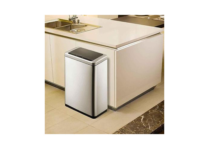 EkO Sensible Eco Living 80L Hands-Free Motion Sensor Large Waste Bin/Trash - 1