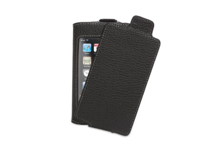 Elan Convertible Refresh for iPod touch - Black - Leather flip-top case for iPod Touch 2G - 1