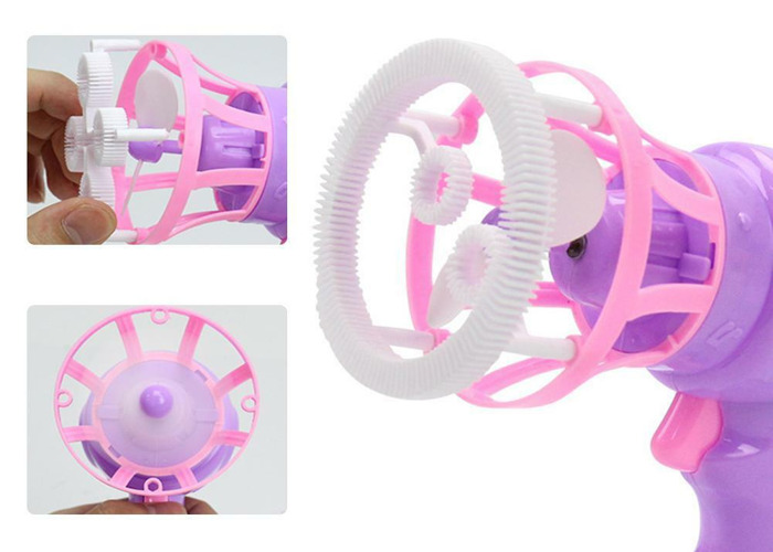 Electric Automatic Bubble Machine Fan Gun Blower Kids Toy - 2