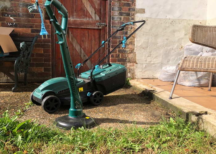 Electric Lawnmower (1200W) & Electric Grass Trimmer (250W) - 2