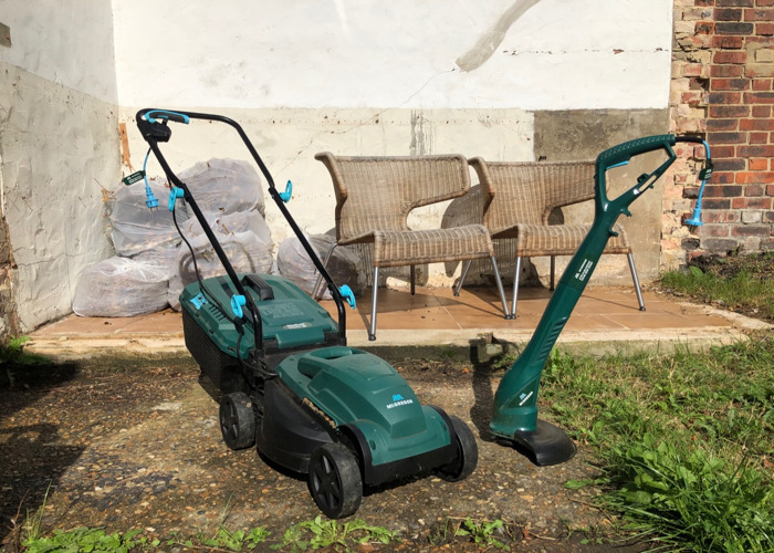 Electric Lawnmower (1200W) & Electric Grass Trimmer (250W) - 1