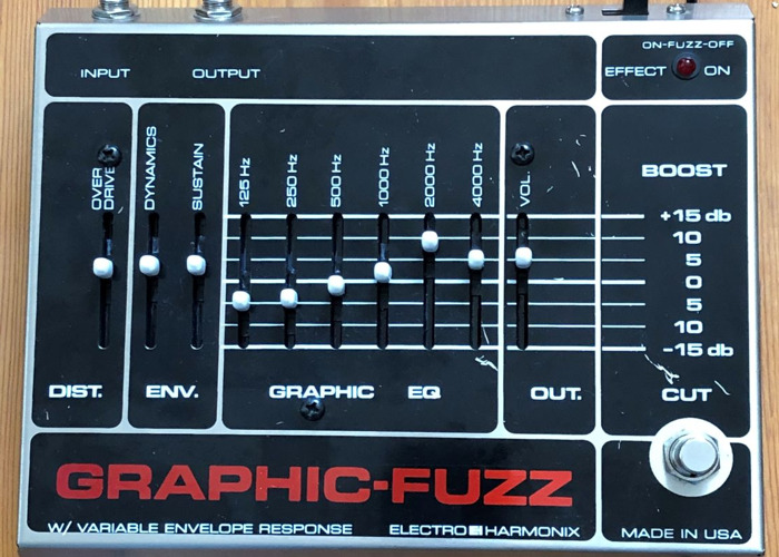 Electro Harmonix Graphic Fuzz Overdrive Guitar Effect - 1