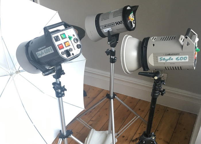 Elinchrom Monobloc with stand and accessories - 1