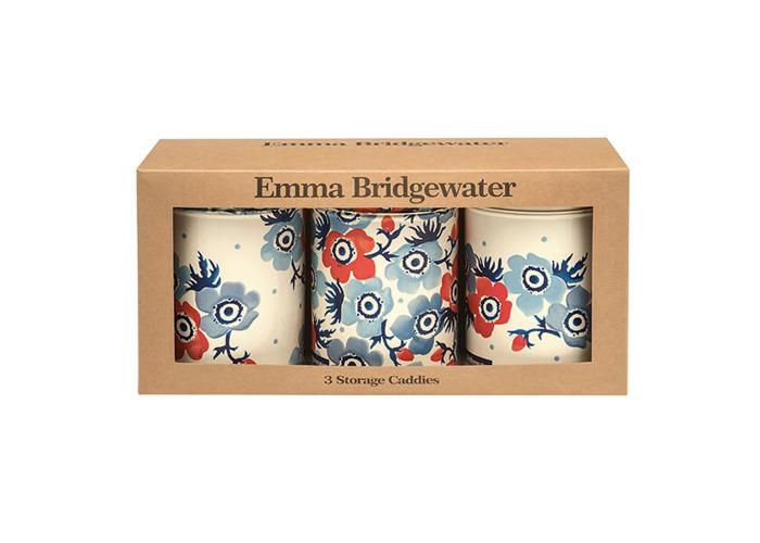 Emma Bridgewater Anemone Set of 3 Round Storage Tins - 1