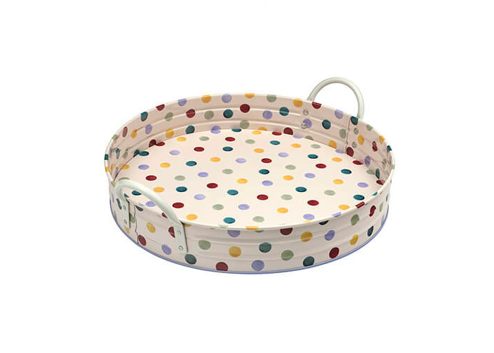 Emma Bridgewater Polka Dot Round Tray With Handles - 1
