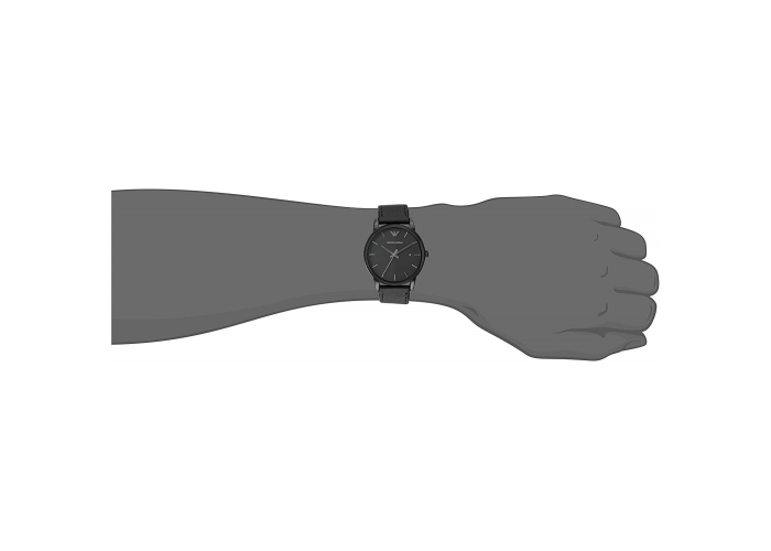 Emporio Armani Men's Analogue Quartz Watch with Leather Strap AR1732 - 2