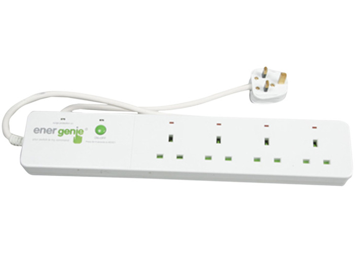 Energenie Trailing Gang with Four Radio Controlled Surge Protected Sockets - 2