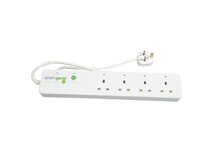 Energenie Trailing Gang with Four Radio Controlled Surge Protected Sockets - 1