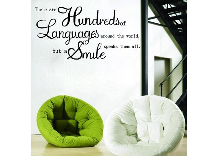 English Proverbs Wall Sticker Decal Wallpaper Home Decor - 1