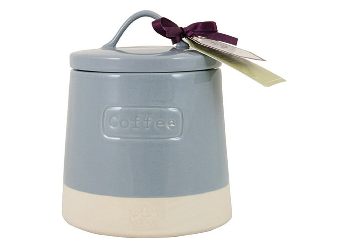 English Tableware Company Artisan Blue Coffee Canister With Lid - 1