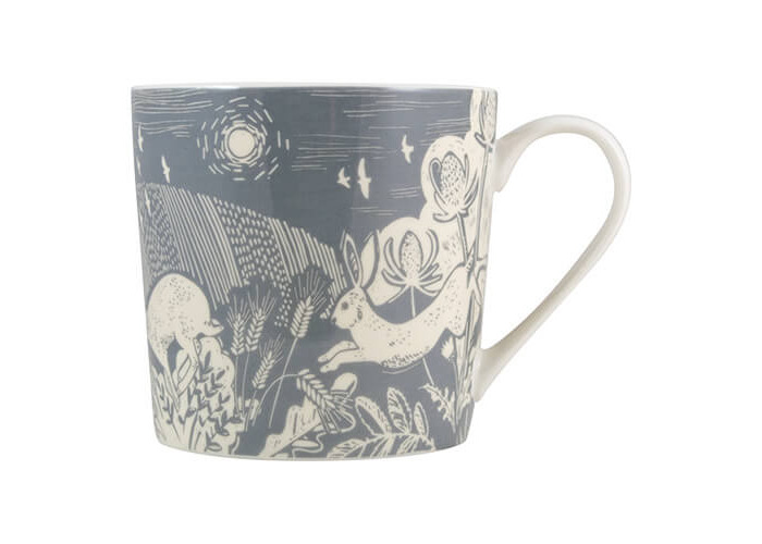 English Tableware Company Artisan Fine China Blue Hare Mug - 1