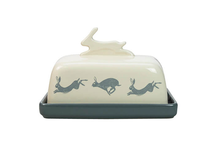 English Tableware Company Artisan Hare Butter Dish - 1