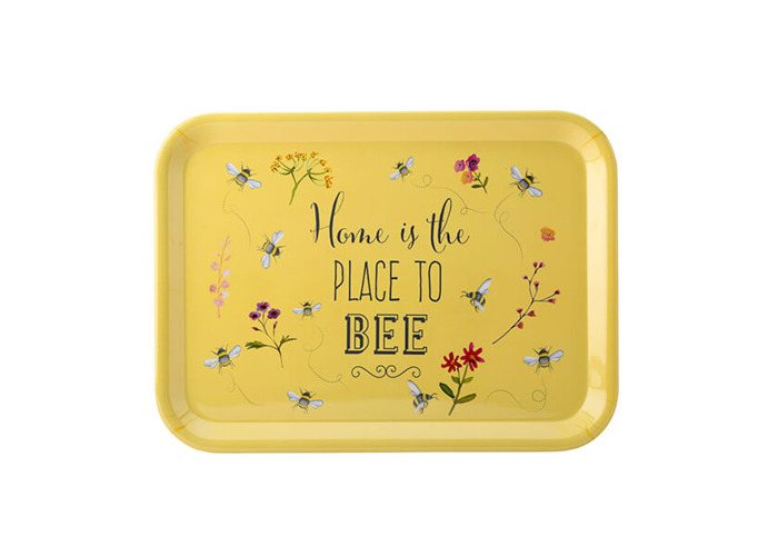 English Tableware Company Bee Happy 'Home is the Place to Bee' Large Melamine Gloss Tray - 1