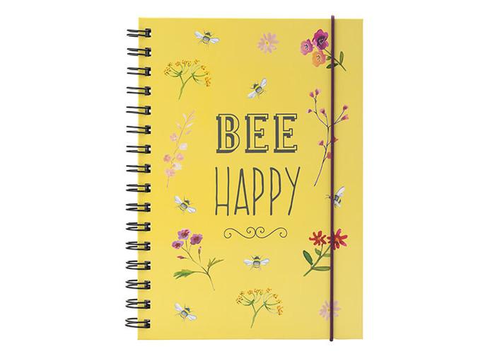 English Tableware Company Bee Happy Yellow Notebook - 1