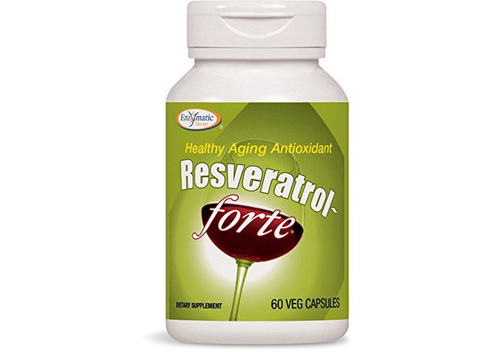 Enzymatic Therapy Resveratrol Forte, 60 Vegetarian Capsules - 1