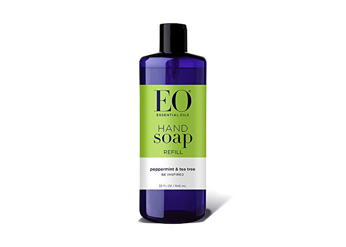 EO Botanical Liquid Hand Soap Refill, Peppermint and Tea Tree, 32 Ounce - 1