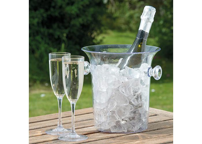 Epicurean Europe 23 x 22 x 18 cm Acrylic SAN Acrylic Champagne Bucket, Clear - 2