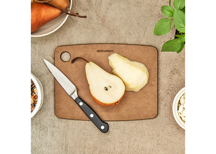 Epicurean Kitchen Series Cutting and Chopping Board, Compressed Wood Composite, 20 x 15 x 0.6 cm, Nutmeg Brown - 2