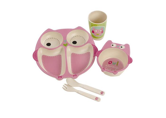 Epicurean Owl Bamboo Kids 5 Piece Set - 1