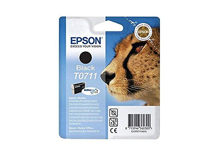 Epson T0711 Print Cartridge, 1 x Black, Genuine, Amazon Dash Replenishment Ready - 1