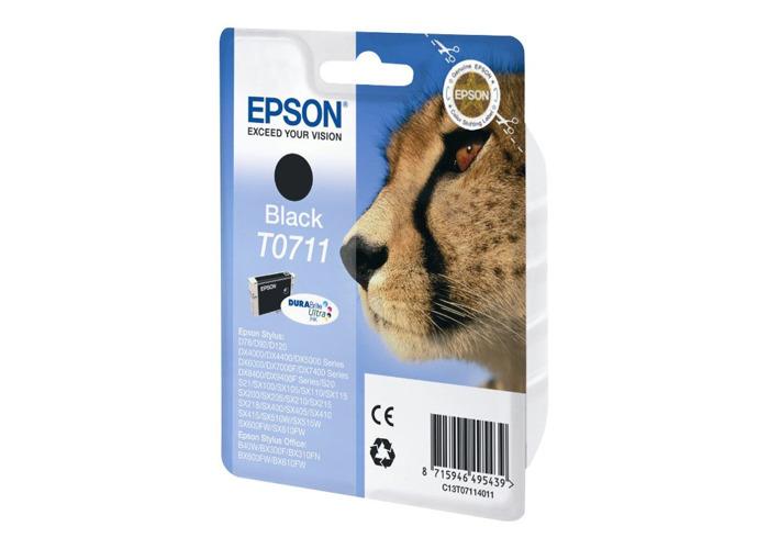Epson T0711 Print Cartridge, 1 x Black, Genuine, Amazon Dash Replenishment Ready - 2
