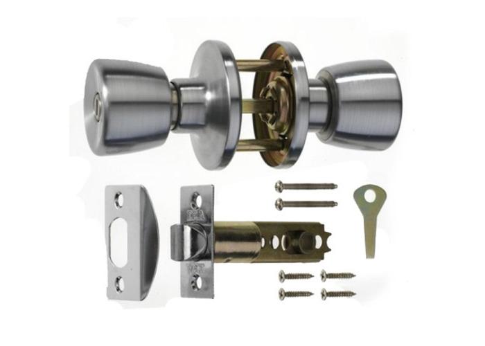 ERA 168-52 Privacy Door Knob Set Chrome - 1