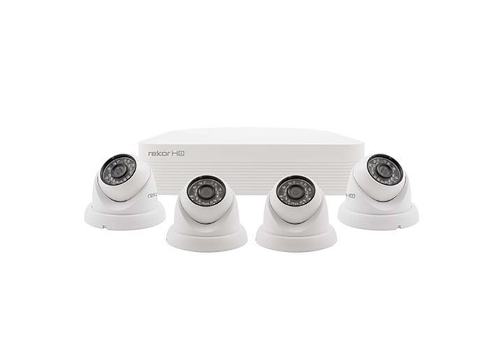 ESP Rekor HD 4 Channel HD CCTV System (White Dome Cameras) - 1