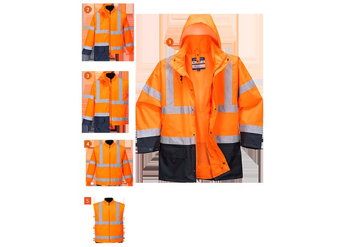 Essential 5in1 Hi-Vis Jacket  OrNa  Small  R - 1