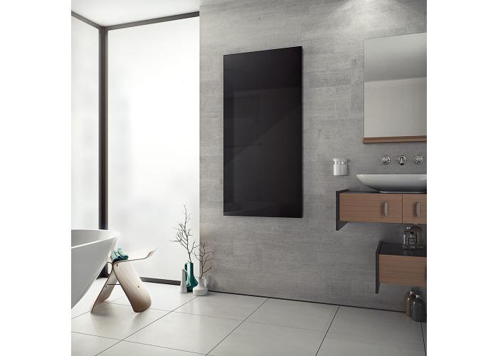 Eucotherm Glass Infrared Designer Radiator, Black | 600mm x 900mm - 2