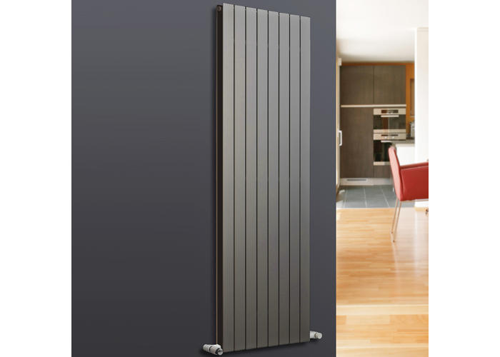 Eucotherm Mars Duo Vertical Double Flat Panel Designer Radiator, Anthracite | 1500mm x 595mm - 2