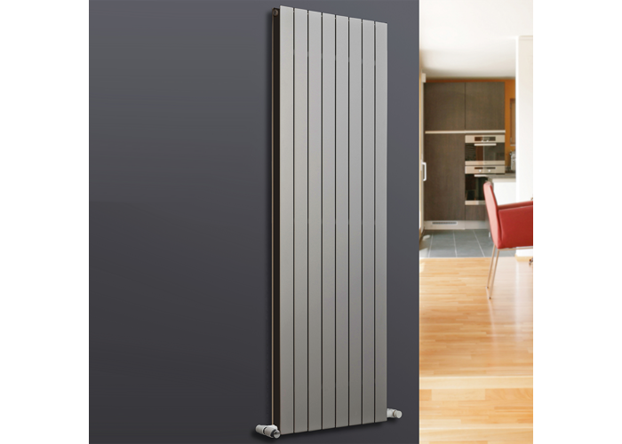 Eucotherm Mars Duo Vertical Double Flat Panel Designer Radiator, Silver | 1200mm x 595mm - 1