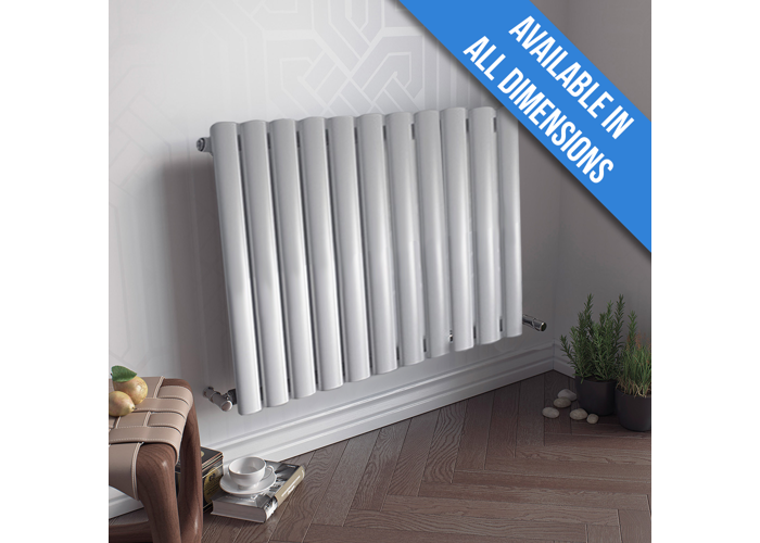 Eucotherm Nova 600 Vertical Single Tube Designer Radiator, White | 600mm x 410mm - 1