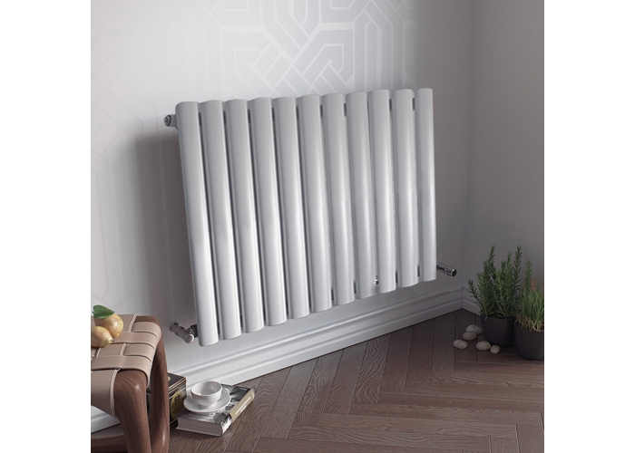 Eucotherm Nova 600 Vertical Single Tube Designer Radiator, White | 600mm x 410mm - 2