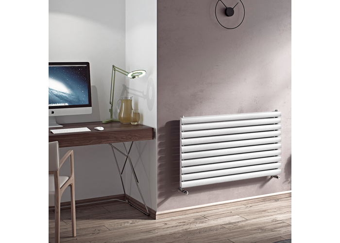 Eucotherm Nova Horizontal Double Tube Designer Radiator, White | 294mm x 1800mm - 1