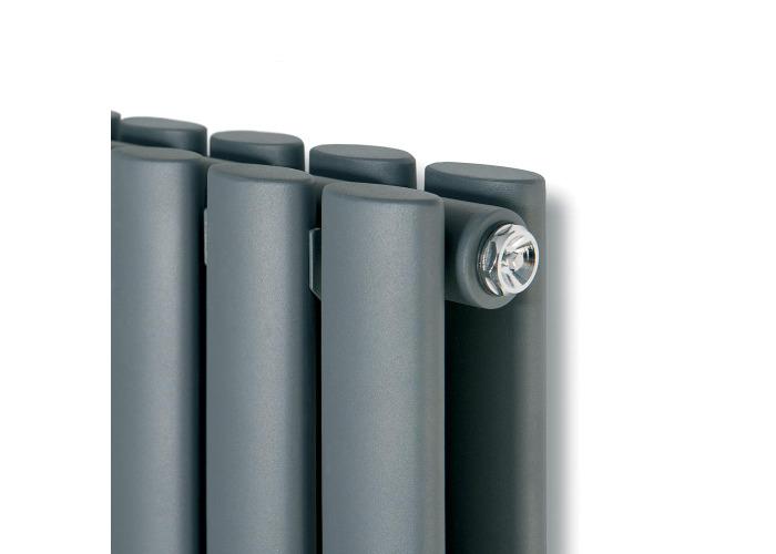 Eucotherm Nova Vertical Double Tube Designer Radiator, Anthracite | 1800mm x 236mm - 1