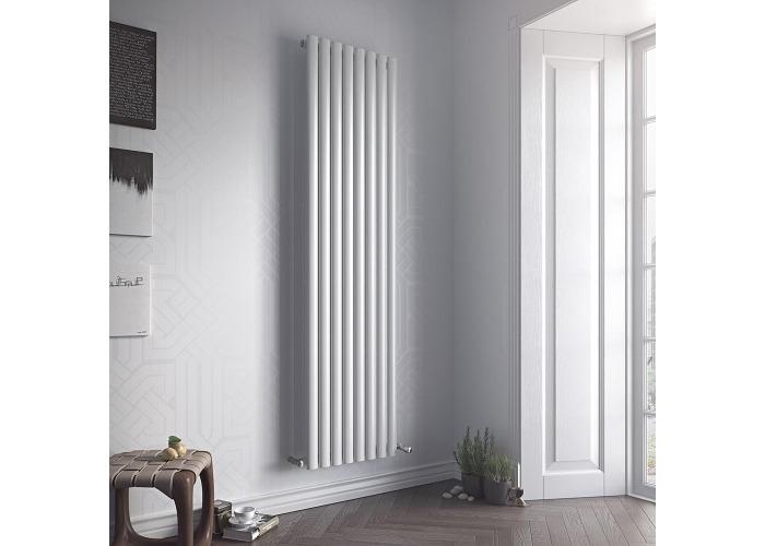 Eucotherm Nova Vertical Single Tube Designer Radiator, White | 1800mm x 236mm - 2