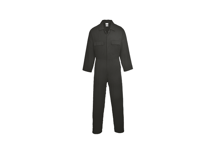 Euro Cotton Boilersuit  Black  Small  R - 1