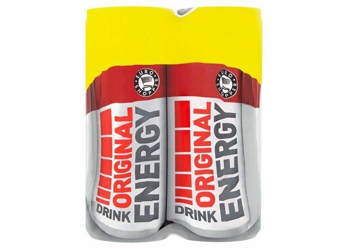 Euro Shopper Original Energy Drink 250ml Pack of 24 x 250ml - 2